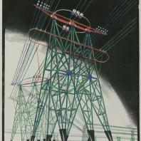Яков Чернихов: 62. Фермовые упоры-стойки (электромачты). Пример выявления пространства и композиционной трактовки металлических конструкций.