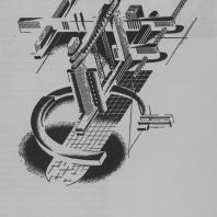 Аксонометрическое построение объемно-планового характера. Усложненная архитектурная композиция пространственного характера