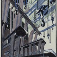 Яков Чернихов: 101. Архитектурный интерьер промышленного характера. Спаянно-конструктивное объединение особо-сложных элементов сооружения.