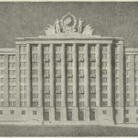 2-й дом СНК в Москве. Фасад на Красную площадь (макет)