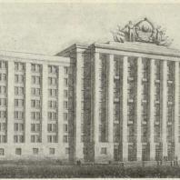 2-й дом СНК в Москве. Перспектива с Красной площади