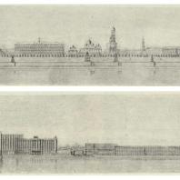 2-й дом СНК в Москве. Панорама застройки набережной