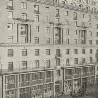 Жилой дом, построенный по проекту арх. М.И. Синявского (улица Горького, № 122). Вторая премия.