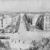 Общий вид Тракторной улицы со стороны проспекта Стачек