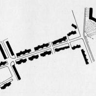Первая очередь застройки Тракторной улицы (Крыловского участка) Московско-Нарвского района. План
