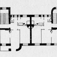 План третьего этажа двухсекционного дома на Тракторной улице
