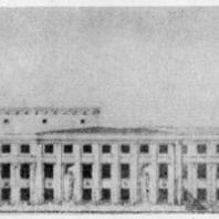 Фасад Дома культуры Ижорского завода. Проект 1932—1933 гг.