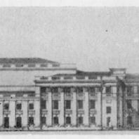 Фасад  Дома культуры Ижорского завода. Проект 1937—1938 гг.