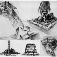 Памятник В.И. Ленину в Разливе. Первые эскизы памятника