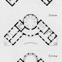 Больница имени С.П. Боткина в Ленинграде. Поэтажные планы к техническому проекту здания прозекторской