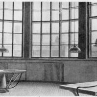 Больница имени С.П. Боткина в Ленинграде. Секционная; вид снаружи и изнутри