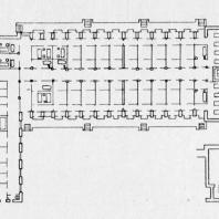Больница имени С.П. Боткина в Ленинграде. План изоляционного павильона. Конкурсный проект больницы