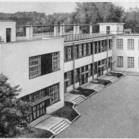 Больница имени С.П. Боткина в Ленинграде. Изоляционный павильон с плоской крышей