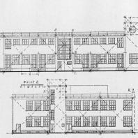 Больница имени С.П. Боткина в Ленинграде. Схема пропорций двух фасадов изоляционного павильона