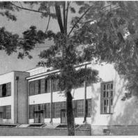 Больница имени С.П. Боткина в Ленинграде. Вид изоляционного павильона с юго-востока