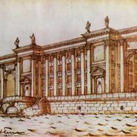 Первый эскиз школы на набережной Робеспьера