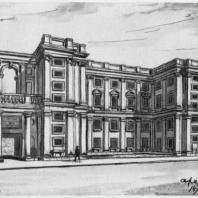 Школа на улице Каляева. Первоначальный эскиз проекта