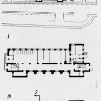 Школа на набережной Робеспьера. Генеральный план и планы первого и третьего этажей технического проекта