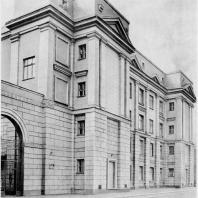 Законченный фасад школы