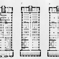 А.И. Гегелло. Поэтажные планы бани в Удельной
