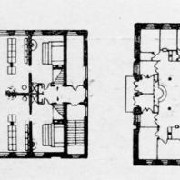 А.И. Гегелло. Планы первого и второго этажей бани на Рябовском шоссе. Технический проект