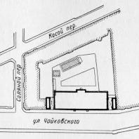 А.И. Гегелло. Генеральный план бани. Предпоследний вариант проекта