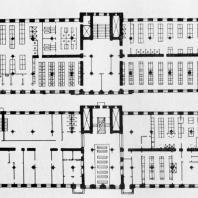 А.И. Гегелло. Планы первого и второго этажей бани. Один из последних вариантов проекта