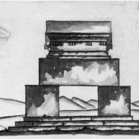 А.И. Гегелло. Эскиз памятника