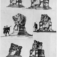 А.И. Гегелло. Развитие темы, как памятника великому архитектору. Эскизы