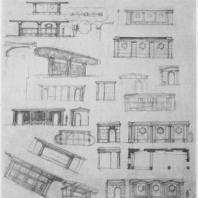 Эскизы автобусного рефюжа для Кронштадта