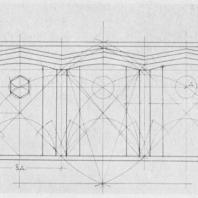 Схема пропорций фасада автобусного рефюжа
