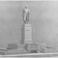 Памятник В.И. Ленину в Казани. Доработанный после общественного обсуждения проект памятника. Модель