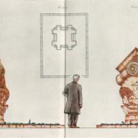 А.И. Гегелло. Проект надгробного памятника арх. И.А. Фомину. Товарищеский конкурс