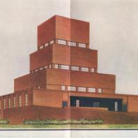 А.И. Гегелло. Проект крематория для Ленинграда. 1930 г. Перспектива