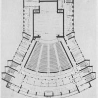А.И. Гегелло. Конкурсный проект театра в Ташкенте. Около 1930 г. План второго этажа