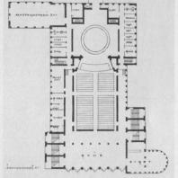 А.И. Гегелло. Проект городского театра в Полоцке. Осуществлен. 1930 г. План второго этажа