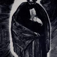 П.Я. Павлинов. Ф.И. Тютчев. Гравюра на дереве. 1932 г.