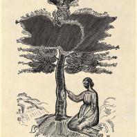В.А. Фаворский. Фронтиспис к книге «Руфь». Гравюра на дереве. 1924 г.