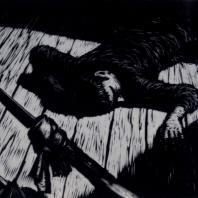 А.Д. Гончаров. Иллюстрация к рассказу Э.Хемингуэя «Рог быка». Гравюра на дереве. 1957 г.