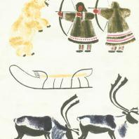В.В. Лебедев. Иллюстрация к книге «Охота». Цветная литография. 1925 г.