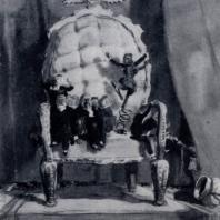 А.М. Каневский. Временное правительство. Акварель. 1940 г. Москва, Третьяковская галерея