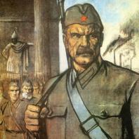 В.А. Серов. Плакат «Наше дело правое, победабудет за нами!». 1941 г.