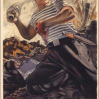 Плакат «За Родину!». А.А. Кокорекин. 1942 г.