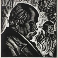 .И. Касиян. Тарас Шевченко. Гравюра на линолеуме. 1960 г.