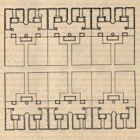 Рис. 2. Схема планировки квартала (1-й вариант). Н.О. Беккер