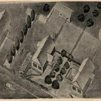 Рис. 12. Эскизный проект жилого дома для колхозной семьи на 5—6 чел. (МОЗУ)