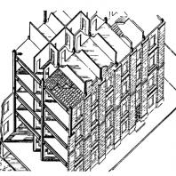 Рис. 2 Конструктивная схема каркасно-панельных домов на ул. Новая Песчаная в Москве