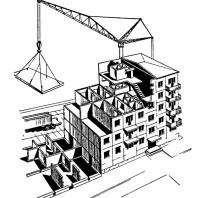 Рис. 5. Конструктивная схема крупнопанельных домов серии I-464
