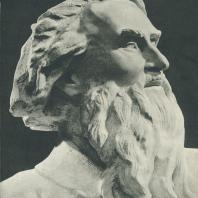 Скульптор С.Т. Коненков. Автопортрет. Фрагмент. Мрамор. Государственная Третьяковская галерея. 1954 г.