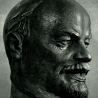 С.А. Евсеев. В.И. Ленин. Модель. Гипс тонированный. 1925 г.